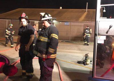 Company 1 fire scene